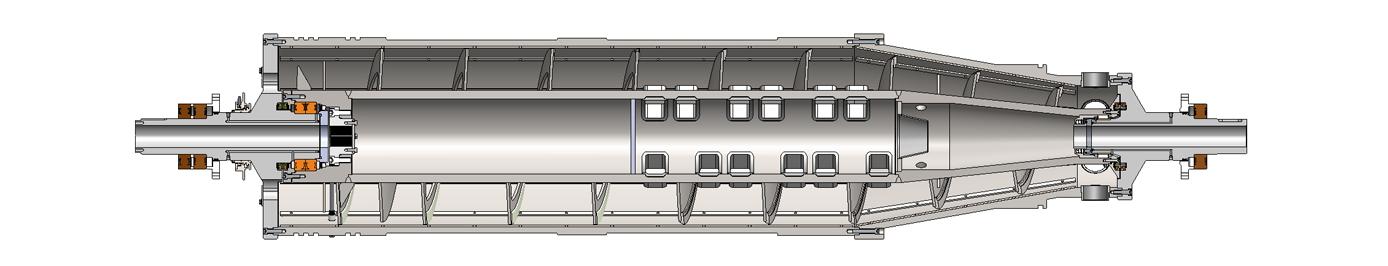 Bearing to Bearing Rotating Assembly (RA) on Viscotherm ROTODIFF® Hydraulic Drive Illustration