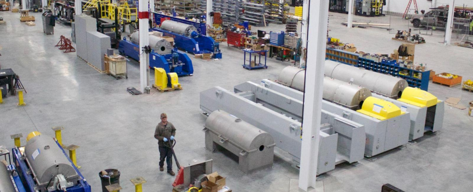 Ample Decanter Centrifuge Facility Space