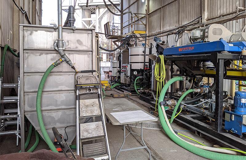 A CalPrex pilot test at in industrial facility.