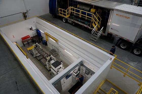 Schneck Process HM7U in our underground high-speed balancing bunker.