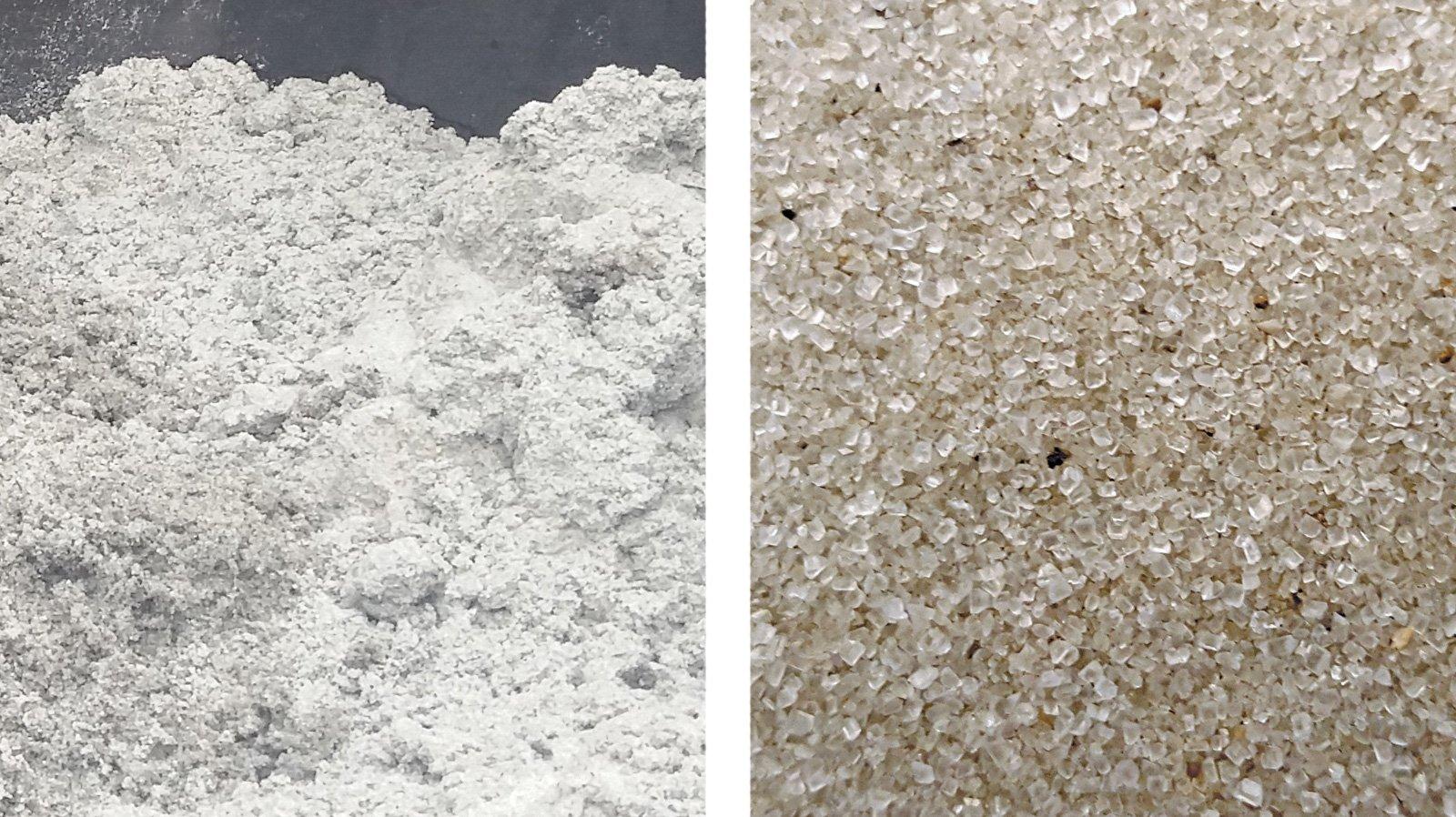 Photos of struvite, a mineral consisting of magnesium, ammonium and phosphorus.